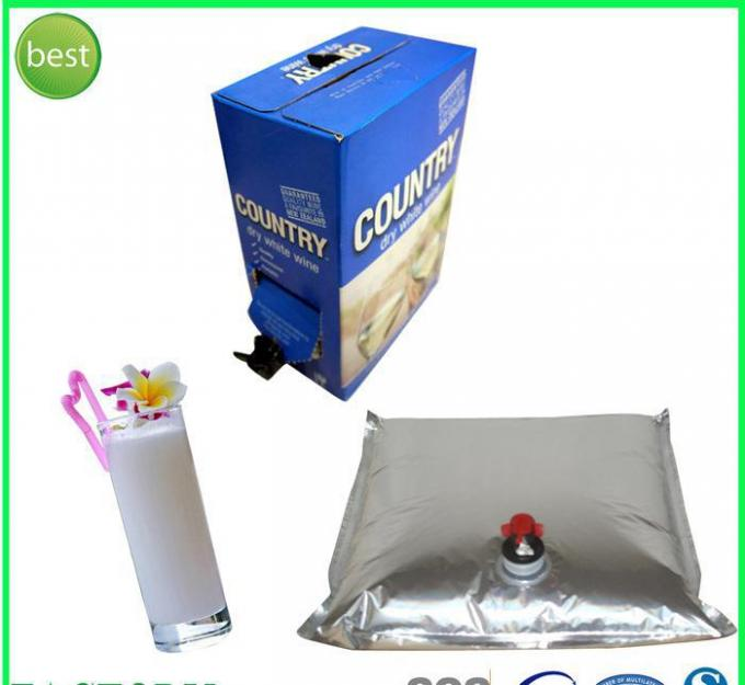 Water / Juice / Milk Wine Storage BIB Bag In Box forLiquid Packaging