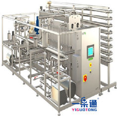 China Tea Drinks Pasteurizer Machine , UHT Tubular Milk Pasteurization Equipment supplier