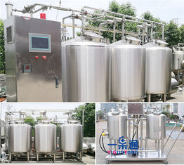China Whole Set Type CIP Washing System In Small Scale Stainless Steel 304 / 316L Material supplier