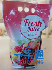 China 5L Syrup BIB Bag In Box / Aseptic Bag For Apple Juice , Long Life Using supplier