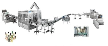 China High Speed Glue Labeling Machine For Banana Wine Filling Machine System supplier