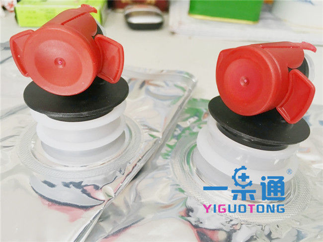 Pe + Pvc Packaging Bag In Box Fitments Gland , Taps Valve For BIB Pouch 5L / 10L / 20L / 50L