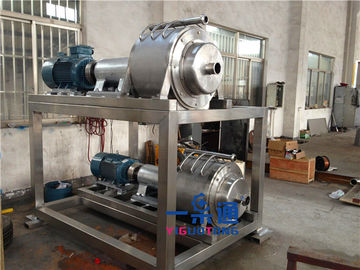 China S S Spiral Industrial Juicer Machine High Juice Rate For Tomatoes / Ginger factory