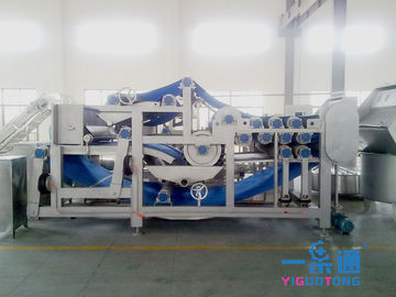 China Belt Industrial Apple Juicer / Carrot Belt Juice Extractor Machine With CIP Cleaning System factory