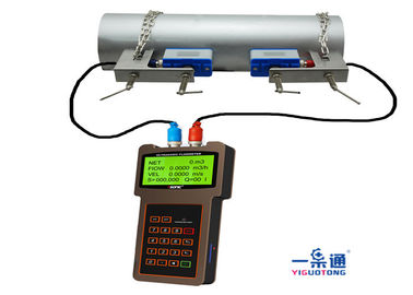 Durable Portable Ultrasonic Flow Meter , Ultrasonic Water Meter ABS Housing Material