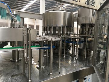 Large Capacity Liquid Filling Machine , Juice Production Line Low Noise